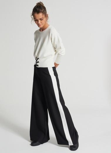 Pi π Yüksek Bel Pantolon Siyah